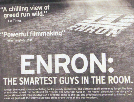 Enron: The Smartest Guys in the Room - Essay Example